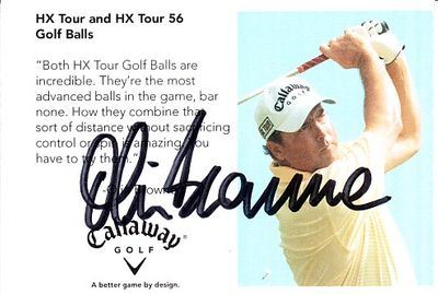 Olin Browne autographed Callaway Golf promo card