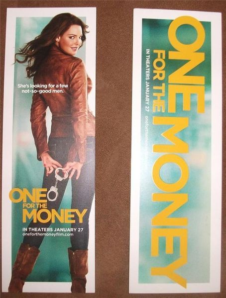 One for the Money movie promo bookmark (Katherine Heigl)