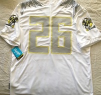 Oregon Ducks 2017 authentic Nike alternate Fight Cancer white size XL jersey BRAND NEW WITH TAGS