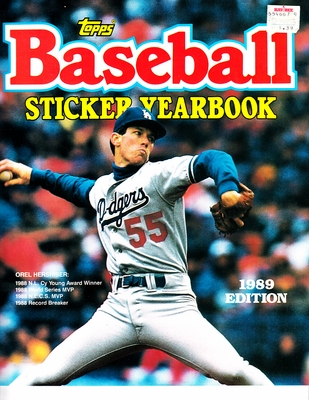 Orel Hershiser Los Angeles Dodgers 1989 Topps sticker album or yearbook