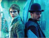 Orlando Bloom and Cara Delevingne autographed Carnival Row 8x11 photo
