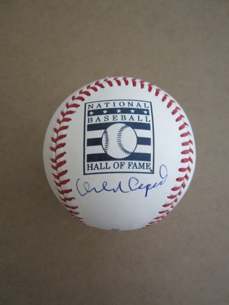 Orlando Cepeda autographed Rawlings Hall of Fame baseball (MLB authenticated)