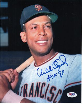 Orlando Cepeda autographed San Francisco Giants 8x10 photo inscribed HOF 99 (PSA/DNA)