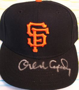 Orlando Cepeda autographed San Francisco Giants authentic game model cap