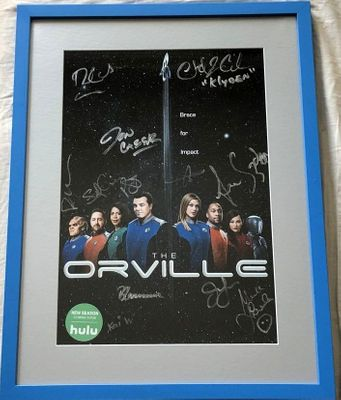 Orville cast autographed 2019 Comic-Con poster framed (Scott Grimes Peter Macon Adrianne Palicki)