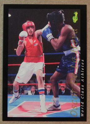 Oscar De La Hoya 1992 Classic World Class Athletes boxing Rookie Card