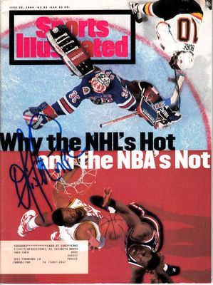 Otis Thorpe autographed Houston Rockets 1994 Sports Illustrated