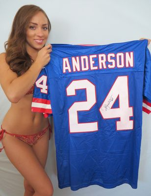Ottis (O.J.) Anderson autographed New York Giants authentic Nike stitched jersey
