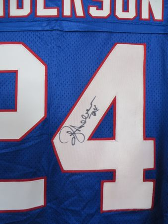 Ottis (O.J.) Anderson autographed New York Giants authentic game model jersey