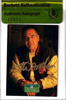 Otto Graham autographed Cleveland Browns 1992 Pro Line card (BAS authenticated)