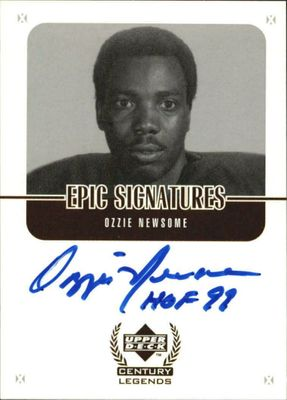 Ozzie Newsome Cleveland Browns certified autograph 1999 Upper Deck Century Legends card