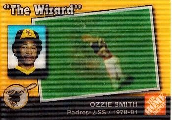 Ozzie Smith 2003 Upper Deck San Diego Padres lenticular Home Depot promo card