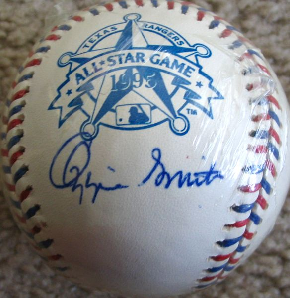 Ozzie Smith autographed 1995 All-Star Game baseball