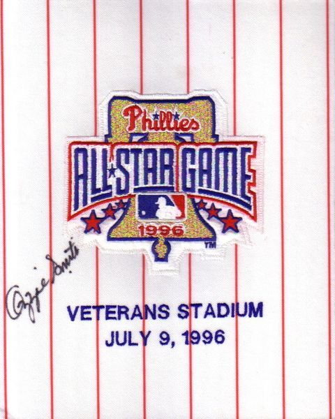 Ozzie Smith autographed 1996 All-Star Game jersey sleeve patch