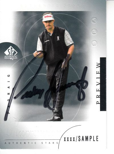 Padraig Harrington autographed 2001 SP Authentic Preview card