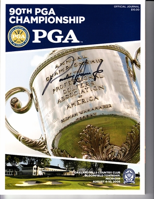 Padraig Harrington autographed 2008 PGA Championship program