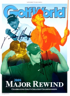 Padraig Harrington & Trevor Immelman autographed 2008 Golf World magazine