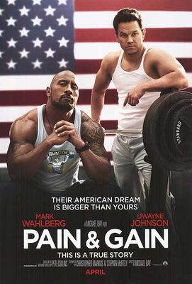 Pain and Gain mini movie poster (Dwayne Johnson Mark Wahlberg)