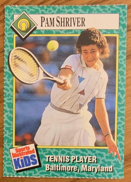 Pam Shriver 1990 Sports Illustrated for Kids card