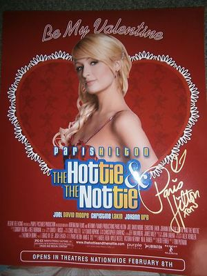 Paris Hilton autographed The Hottie The Nottie 8x10 publicity photo