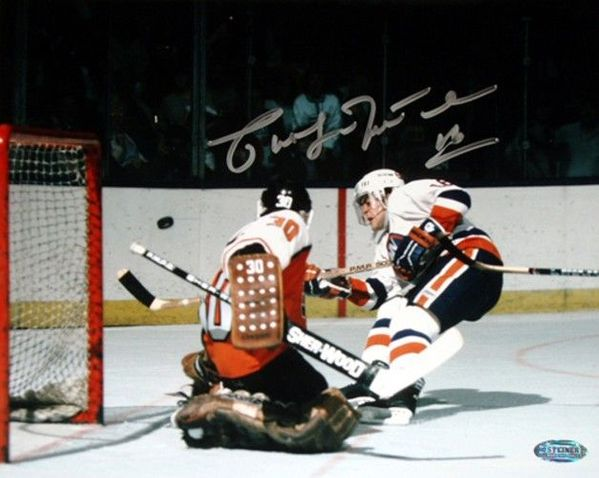 Pat LaFontaine autographed New York Islanders 16x20 poster size photo (Steiner)