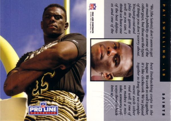 Pat Swilling 1991 Pro Line National Convention unnumbered promo card