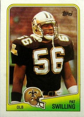 Pat Swilling New Orleans Saints 1988 Topps Rookie Card