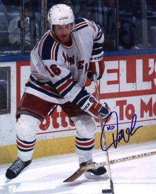 Pat Verbeek autographed 8x10 New York Rangers photo