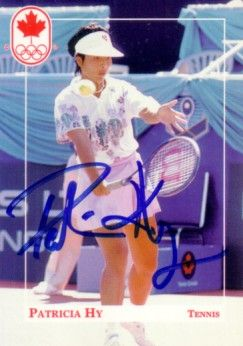 Patricia Hy autographed 1992 Canadian Olympic Team tennis card