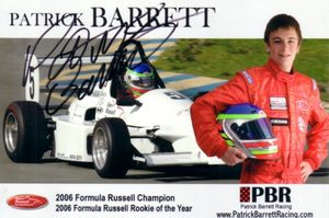 Patrick Barrett autographed 4x6 photo card