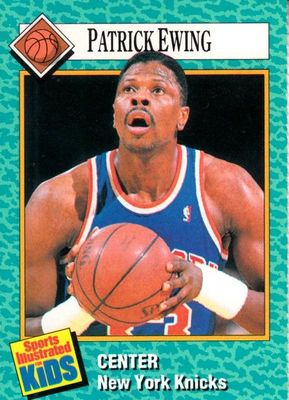 Patrick Ewing New York Knicks 1989 Sports Illustrated for Kids card