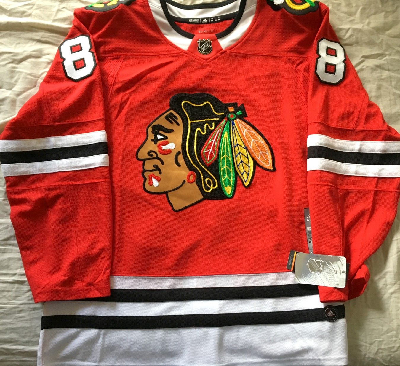 Patrick Kane Chicago Blackhawks authentic Adidas red game model jersey  BRAND NEW WITH TAGS 368112e7d