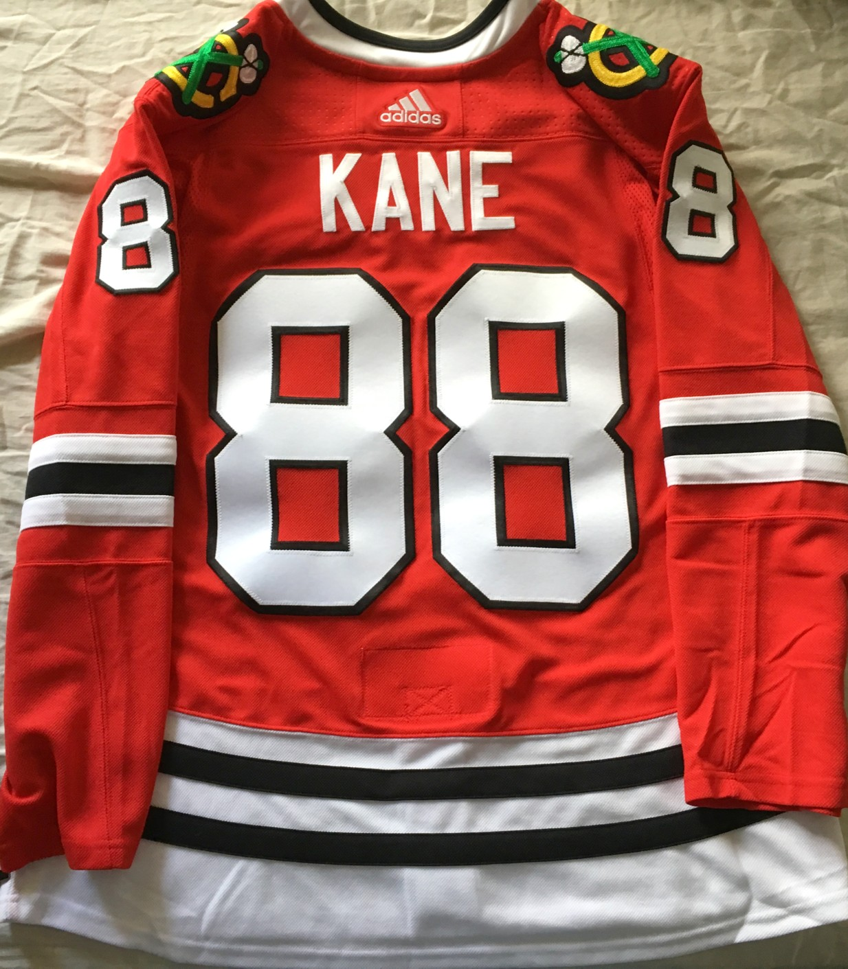 hot sale online 8a166 21a19 Patrick Kane Chicago Blackhawks authentic Adidas red game ...