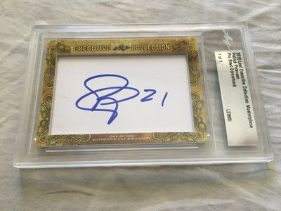 Patrick Peterson 2018 Leaf Masterpiece Cut Signature certified autograph card 1/1 JSA