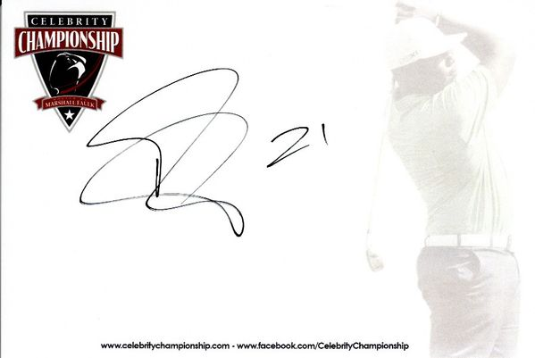Patrick Peterson autographed 4x6 signature card