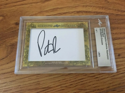 Patrick Reed 2018 Leaf Masterpiece Cut Signature certified autograph card 1/1 JSA