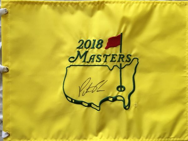 Patrick Reed autographed 2018 Masters golf pin flag
