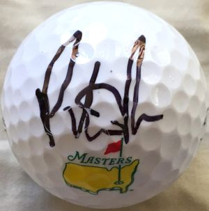 Patrick Reed autographed Masters logo Titleist golf ball