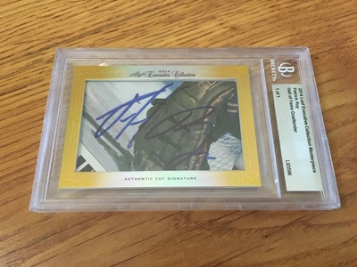 Patrick Roy 2014 Leaf Masterpiece Cut Signature certified autograph card 1/1 JSA