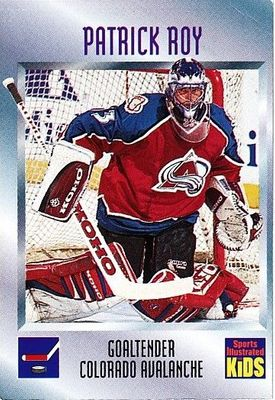 Patrick Roy Colorado Avalanche 1997 Sports Illustrated for Kids card