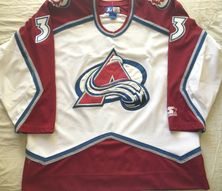 Patrick Roy Colorado Avalanche late 1990s authentic Starter triple stitched white jersey NEW