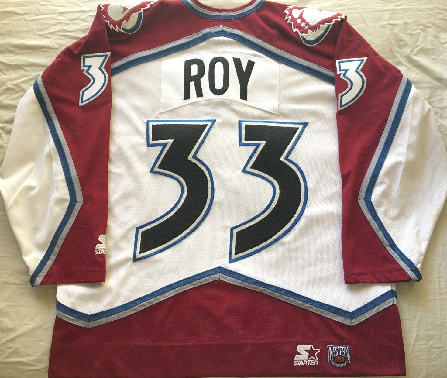 reputable site a1f24 08e50 Patrick Roy Colorado Avalanche late 1990s authentic Starter ...