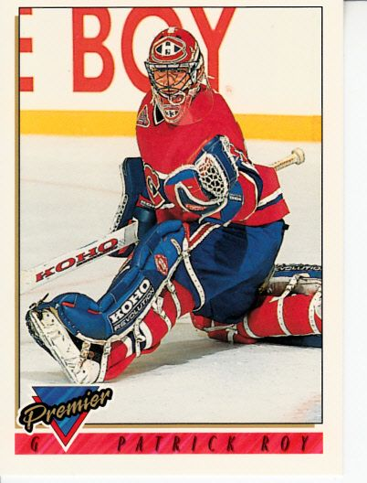 Patrick Roy Montreal Canadiens 1993-94 Topps Premier promo or sample card