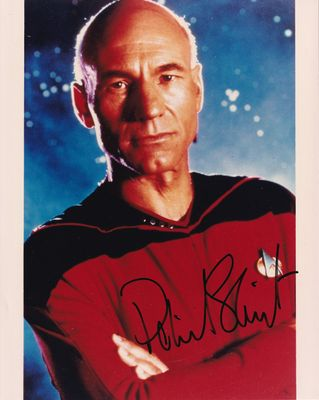 Patrick Stewart autographed Star Trek The Next Generation 8x10 photo