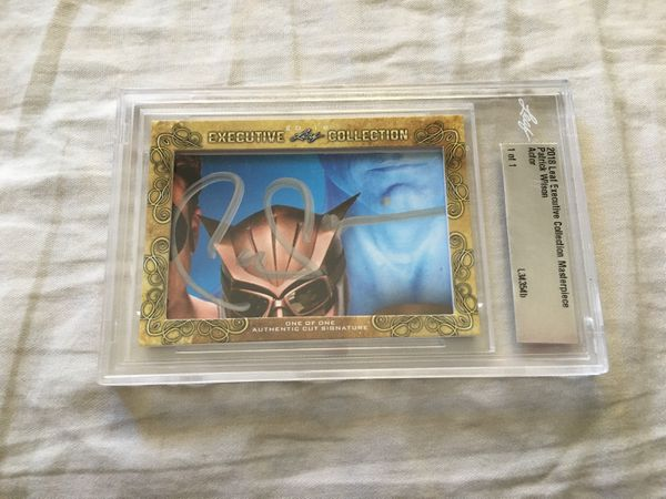 Patrick Wilson 2018 Leaf Masterpiece Cut Signature certified autograph card 1/1 JSA Aquaman