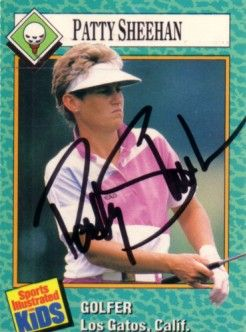 Patty Sheehan autographed 1989 Sports Illustrated for Kids Rookie Card