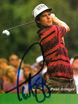 Paul Azinger autographed small golf magazine photo