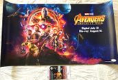 Paul Bettany and Pom Klementieff autographed Avengers Infinity War 2018 Comic-Con movie poster JSA