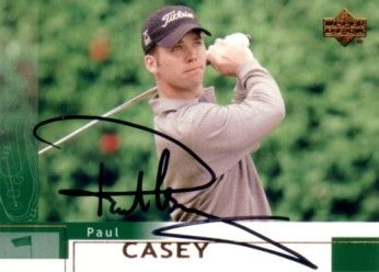 Paul Casey autographed 2002 Upper Deck golf card