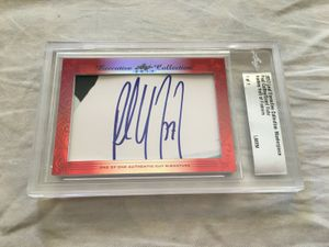 Paul Coffey and Grant Fuhr 2017 Leaf Masterpiece Cut Signature certified autograph card 1/1 JSA